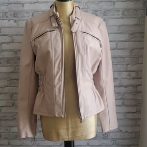 Pleather blush pink jacket size Medium
